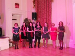 The category  award winners: Me, Nicola May, Fiona Harper, Rowan Coleman, Christina Courtenay, Mandy Baggot and Lyn Vernham.