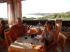 Birthday dinner in Sardinia