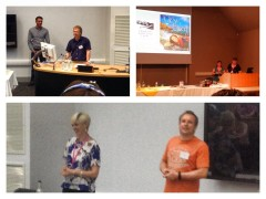 Montage of pics of Conference sessions from Sue Fortin - Nell and I are in the top right.